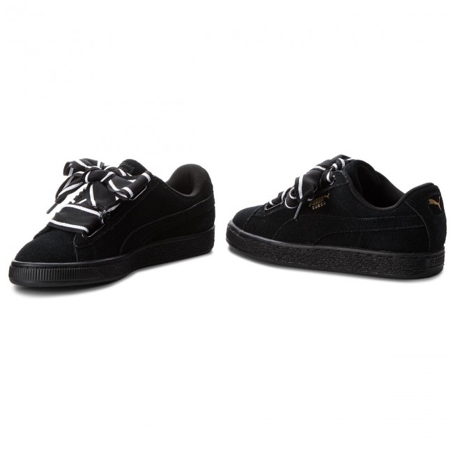 Sneakers PUMA - Suede Heart Satin II 364084 01 Puma Black - Sneakers ... befdf72d1