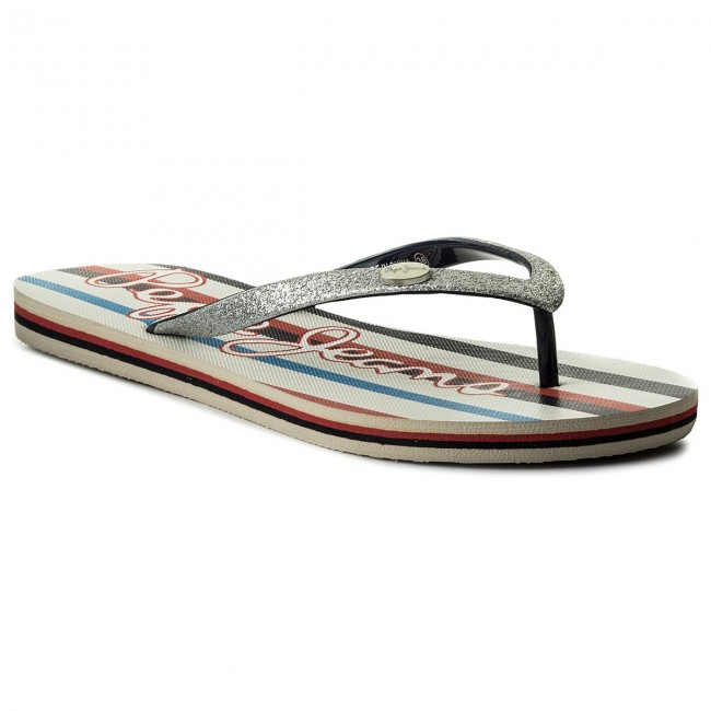 Pepe Jeans RAKE MARGOT - Pool shoes - silver AXcBZKL