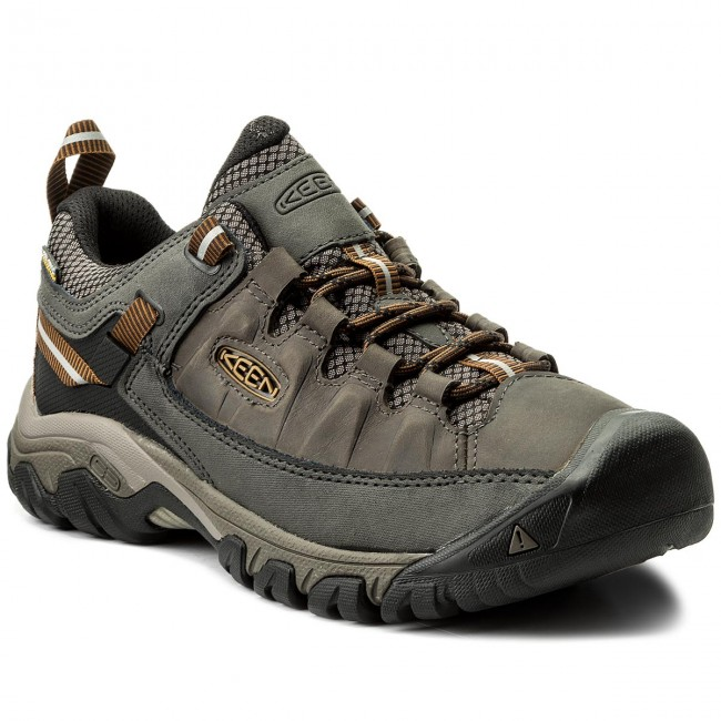 KeenTARGHEE III WP - Hiking shoes - black olive/golden brown 6tmRQ