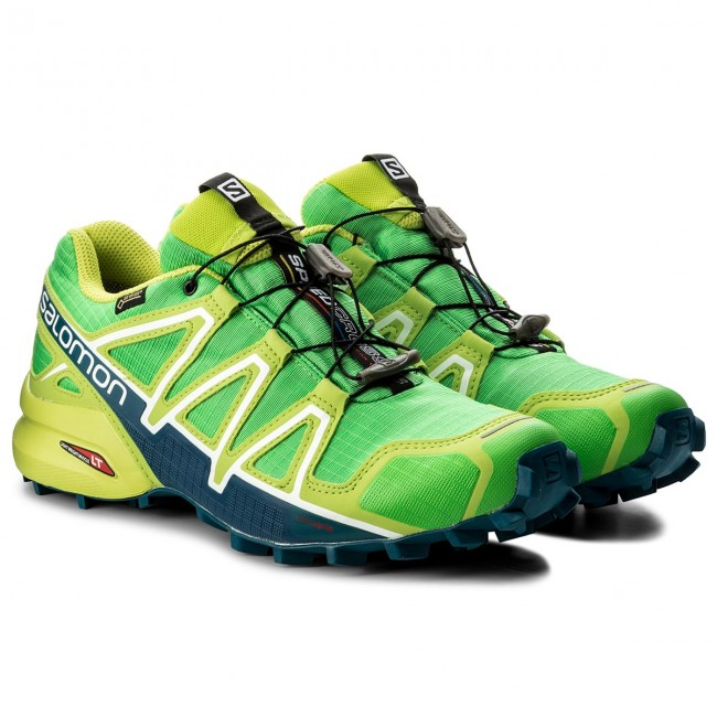 Shoes SALOMON Speedcross 4 Gtx GORE TEX 398430 27 G0 Classic GreenLime GreenPoseidon