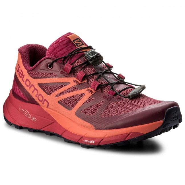 433a37a631d6 Shoes SALOMON - Sense Ride W 398486 Sangria Living Coral Virtual Pink