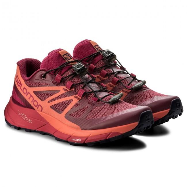 Schuhe SALOMON - Sense Ride W 398486 Sangria/Living Coral/Virtual Pink POE6WJ9