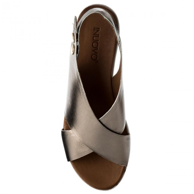 f70c5c9cddd Sandals INUOVO - 8697 Pewter - Wedges - Mules and sandals - Women s shoes -  www.efootwear.eu