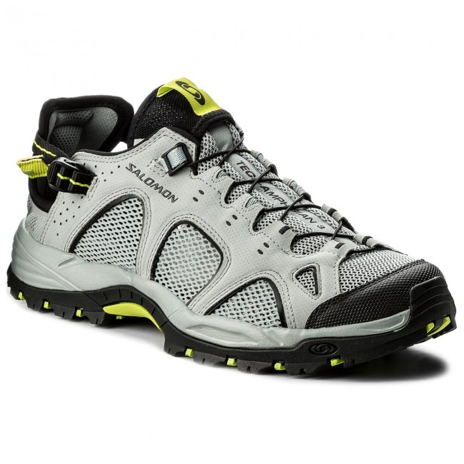 ebd62ae2b546 Trekker Boots SALOMON - Techamphibian 3 401596 29 M0 Quarry Black Acid Lime