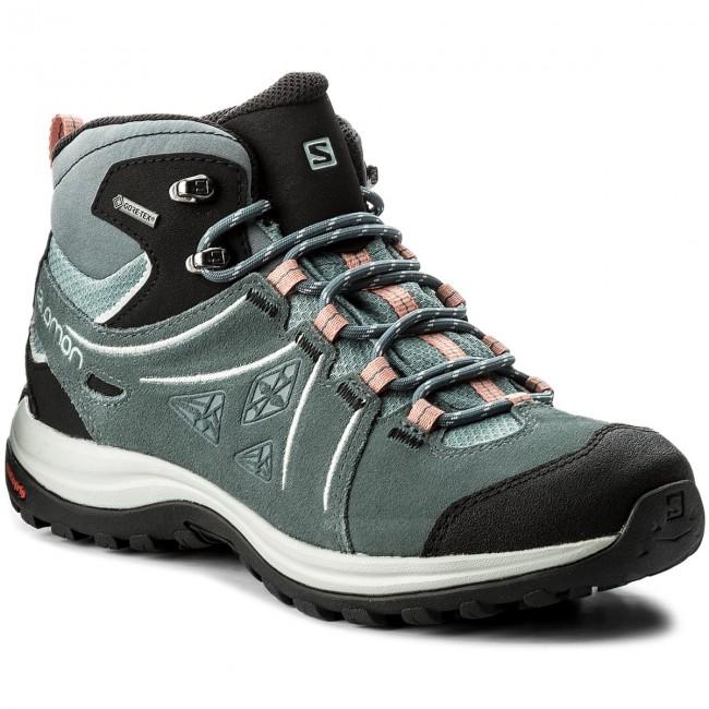 a3f7b1f079 Trekker Boots SALOMON. Ellipse 2 Mid Ltr Gtx GORE-TEX W 401626 20 V0 Lead Stormy  Weather Coral Almond
