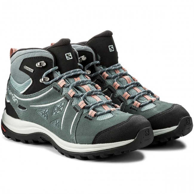 a5acd5ef Trekker Boots SALOMON - Ellipse 2 Mid Ltr Gtx GORE-TEX W 401626 20 V0 Lead/Stormy  Weather/Coral Almond - Trekker boots - High boots and others - Women's ...