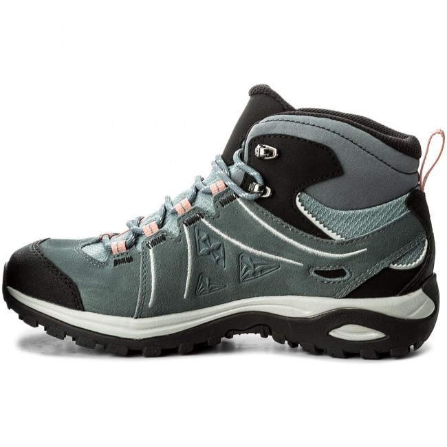 eeae2ac9a3 Trekker Boots SALOMON - Ellipse 2 Mid Ltr Gtx GORE-TEX W 401626 20 V0 Lead Stormy  Weather Coral Almond - Trekker boots - High boots and others - Women s ...