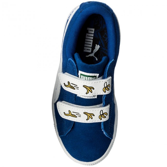 Sneakers PUMA - Minions Suede V Ps 365528 02 Olympian Blue Puma White -  Velcro - Low shoes - Girl - Kids  shoes - www.efootwear.eu ad9bc8b71