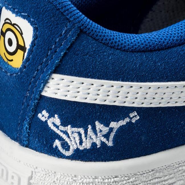 Sneakers PUMA - Minions Suede V Ps 365528 02 Olympian Blue Puma White edaadec6f