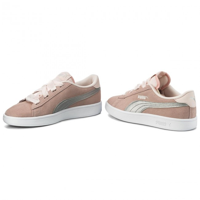 c0f7b9e1be986e Sneakers PUMA - Smash V2 Ribbon Jr 366003 02 Pearl Puma Silver ...