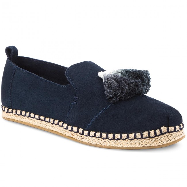 a4c624fba09 Espadrilles TOMS - Deconstructed Alpargata Rope 10011719 Navy Suede Tassel