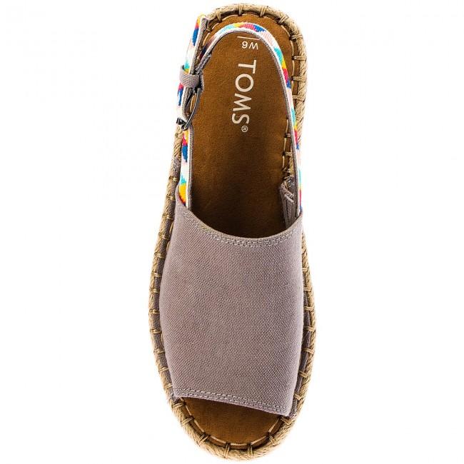 d619b7e34d3 Espadrilles TOMS - Clara 10011828 Drizzle Grey Hemp Multi Tribal -  Espadrilles - Mules and sandals - Women s shoes - www.efootwear.eu