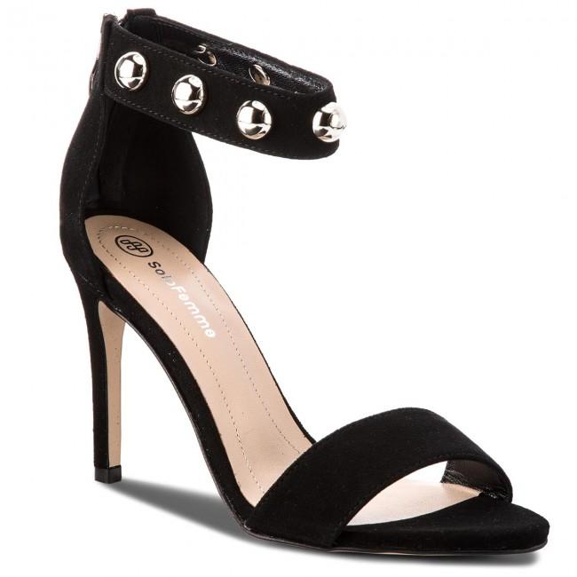 sandals Sandals 07 53 Black 020000 SOLO Elegant 00 FEMME 26475 7RwqzHS7