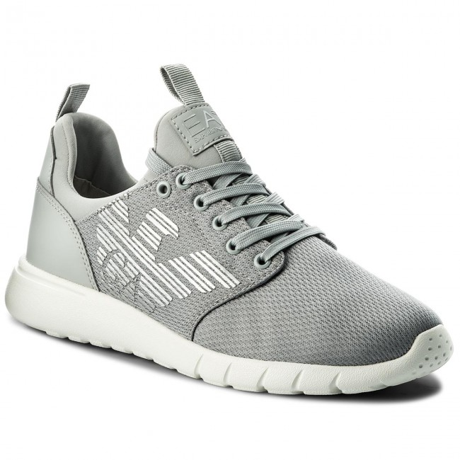 EA7 Emporio Armani LACE UP - Trainers - grey high rise TlEFYNhJ