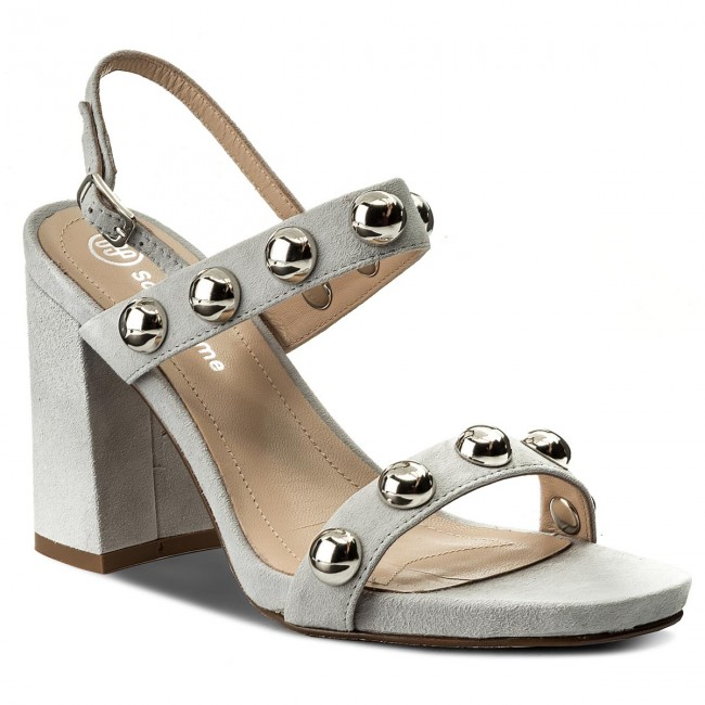 16c39f55e Sandals SOLO FEMME - 42302-01-G15/000-07-00 Jasny Szary - Casual ...