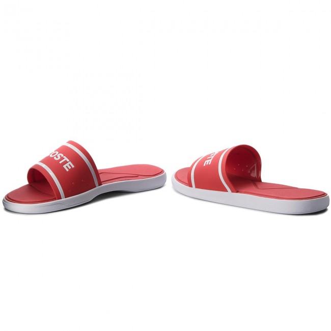 420cfb526bc5 Slides LACOSTE - L.30 Slide 218 1 Cam 7-35CAM006317K Red White ...