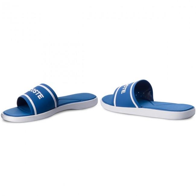 1ee289c64f3707 Slides LACOSTE - L.30 Slide 218 1 Cam 7-35CAM0063221 Blue White ...