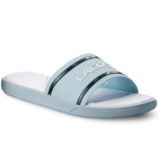 ed483997811337 Slides LACOSTE. L.30 Slide 118 1 Caw 7-35CAW0022BN9 Light Blue Navy White