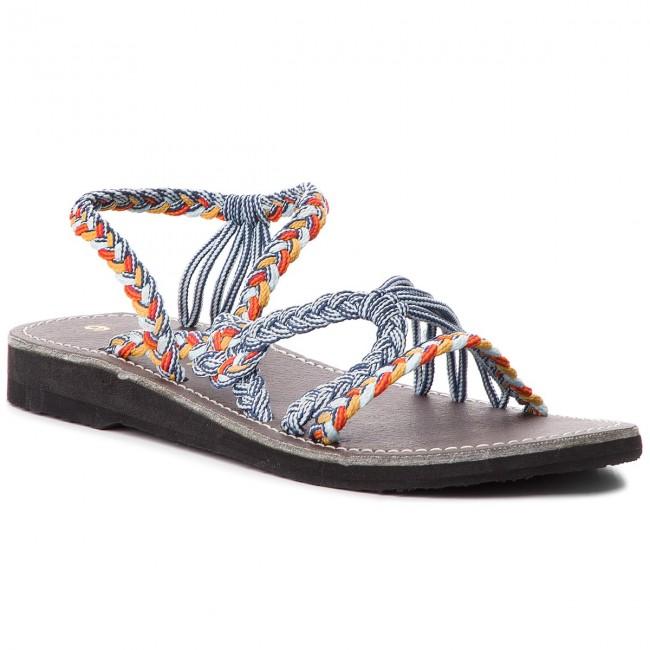 Sandals LA MARINE - Helia Blue Orange da917af691e