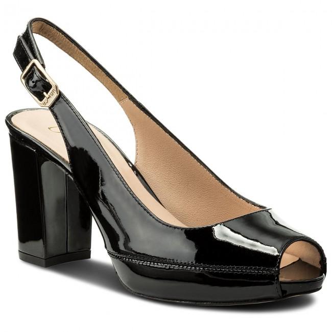 950e1539c480 Sandals UNISA - Nick 18 Black Patent - Casual sandals - Sandals ...