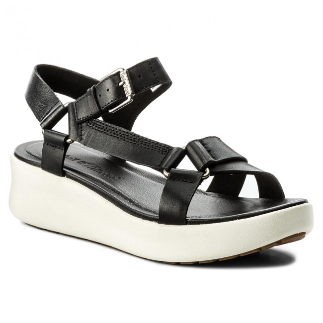 Timberland LOS ANGELES WIND SLINGBACK - Platform sandals - jet black