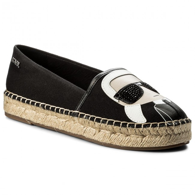 Karl Lagerfeld Leather Espadrille Slip-Ons Original Cheap Price Buy Cheap Professional Outlet Free Shipping Footlocker Pictures Sale Online Best Seller For Sale wo0iH