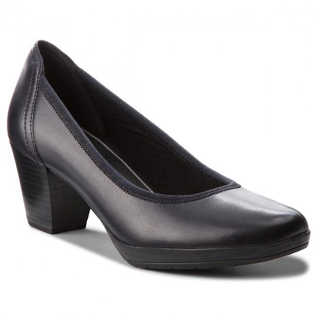 Shoes MARCO TOZZI - 2-22418-31 Navy Antic 892 - Heels - Low shoes ... 087d9fccb5