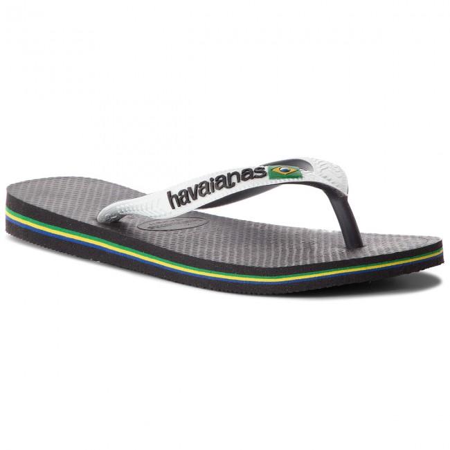 46dcb525f Slides HAVAIANAS - Brasil Mix 41232060133 Black White - Flip-flops ...
