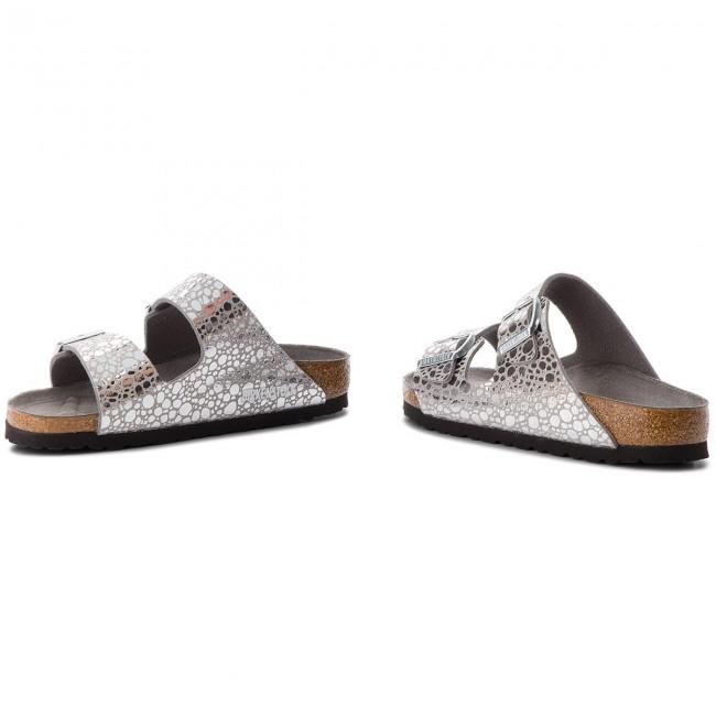 7892b907754 Slides BIRKENSTOCK - Arizona Bs 1011913 Metallic Stones Silver Gray ...