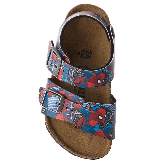 Sandales BIRKENSTOCK New York Kids Bs 1004374 Spiderman Action Blue