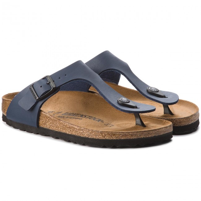 586099155fd7 Slides BIRKENSTOCK - Gizeh Bs 0143623 Blue - Flip-flops - Mules and ...