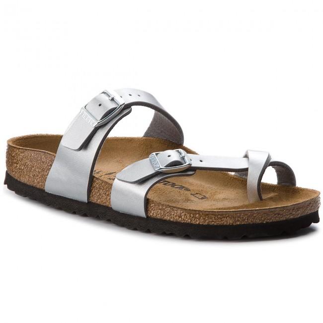 Slides BIRKENSTOCK - Mayari 0071083 Silver - Flip-flops - Mules and ... fec793dcca9