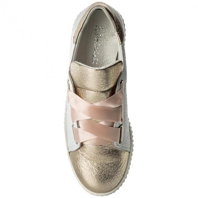 Sneakers R.POLAŃSKI - 0918 Biały Kryształ Złoty FN4XlFE