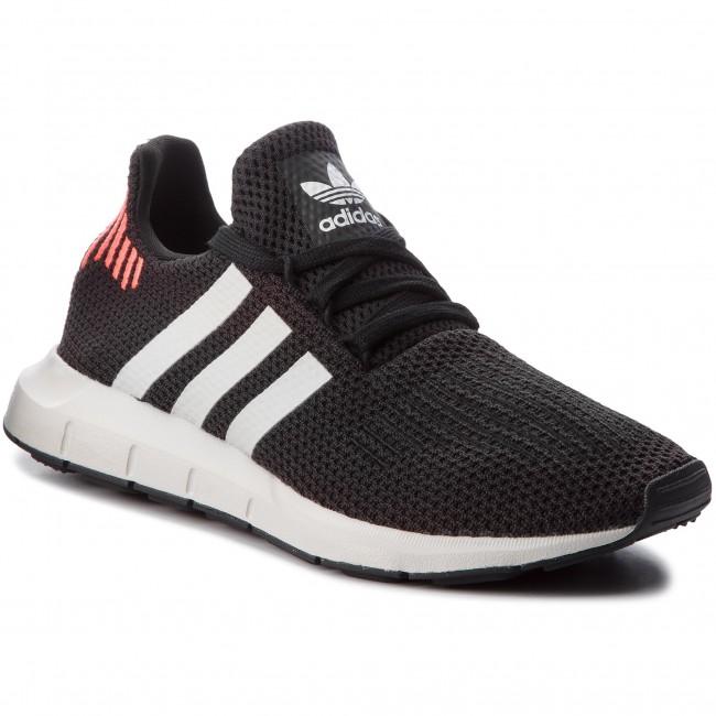 1fb13adb1a06 Shoes adidas - Swift Run B37730 Cblack Ftwwht Greone - Sneakers ...