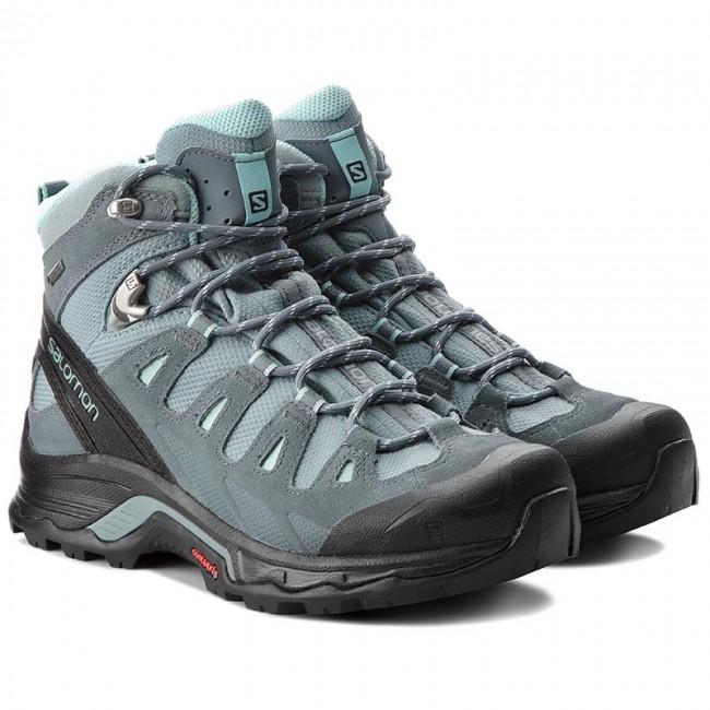 Trekker Boots SALOMON Quest Prime Gtx W GORE TEX 404636 22 V0 LeadStormy WeatherEggshell Blue