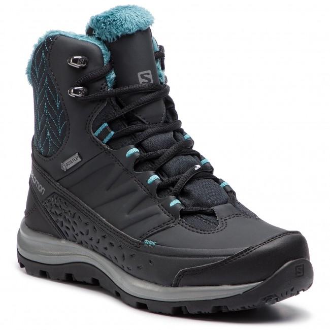 7b423241ab48 Trekker Boots SALOMON - Kaina Mid Gtx GORE-TEX 404735 21 V0 Phantom Black