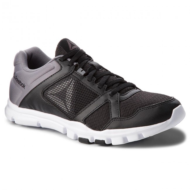 Reebok YOURFLEX TRAIN 10 MT - Sports shoes - black/shark/white 1AOBtXuwwl