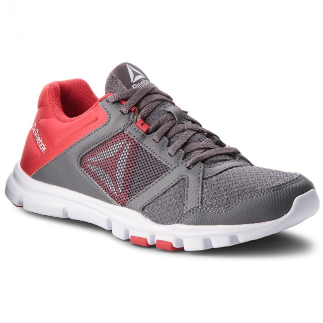 Reebok YOURFLEX TRAIN 10 MT - Sports shoes - shark/primal red/white lEY0RoB