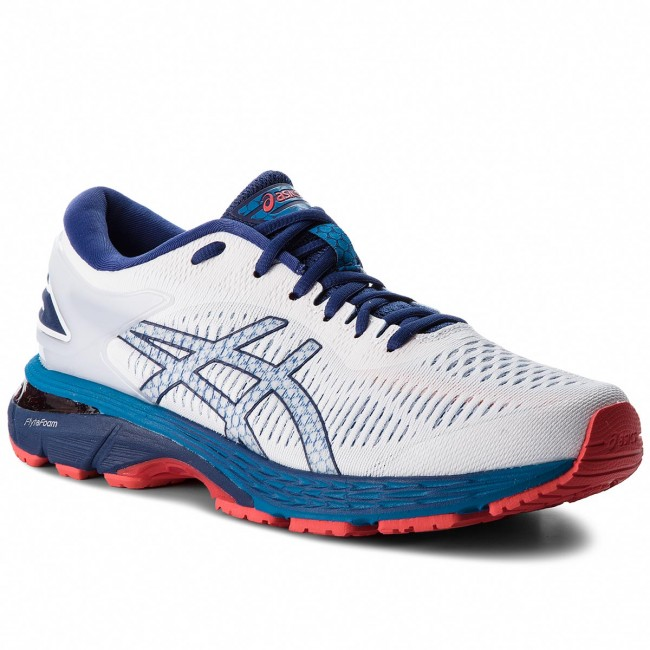 Shoes ASICS - Gel-Kayano 25 1011A019 White Blue Print 100 - Indoor ... fbd3d259e0a
