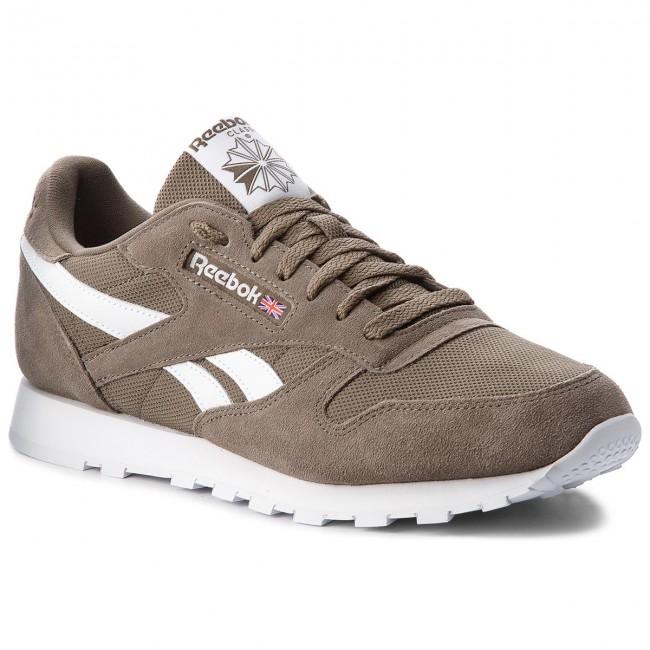 03209573112 Shoes Reebok - Cl Leather Mu CN5018 Terrain Grey White - Sneakers ...
