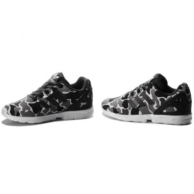 73ca9b5f3986 Shoes adidas - Zx Flux C AQ1739 Carbon Carbon Ftwwht - Laced shoes ...