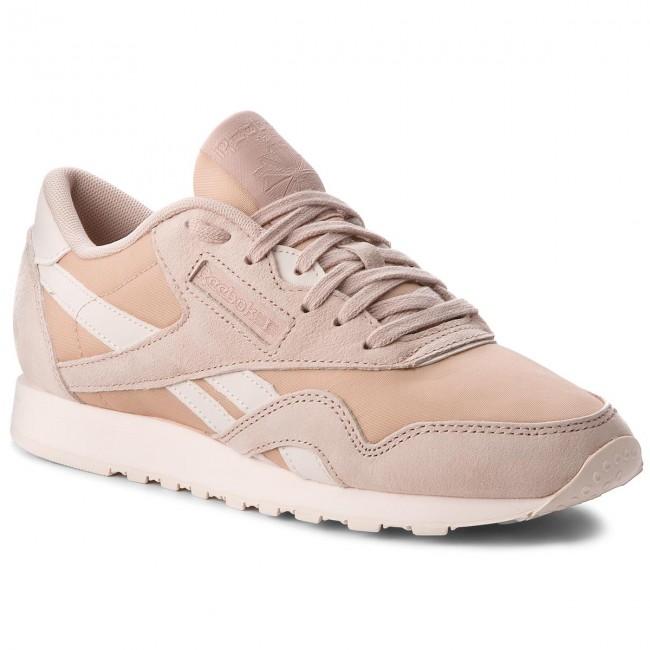 Reebok Classic Nylon sneakers in wit en beige