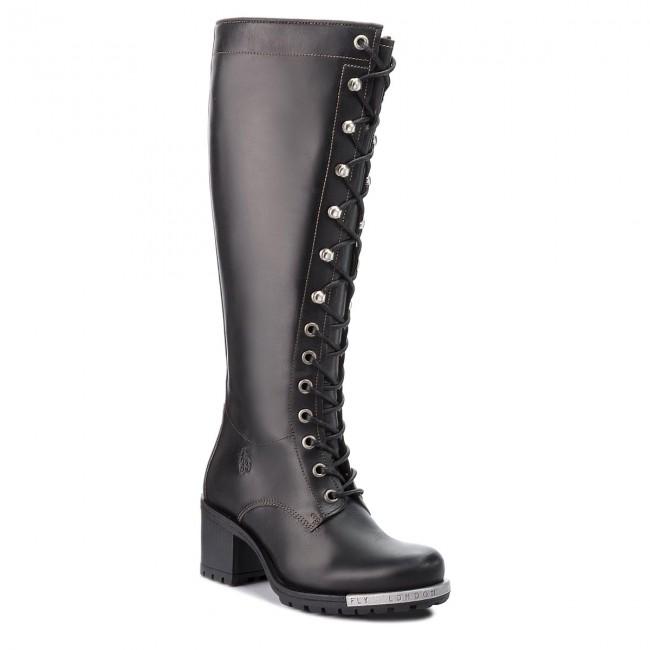 4b6002ccbdb Knee High Boots FLY LONDON - Lyntfly P144318000 Black - Jackboots ...