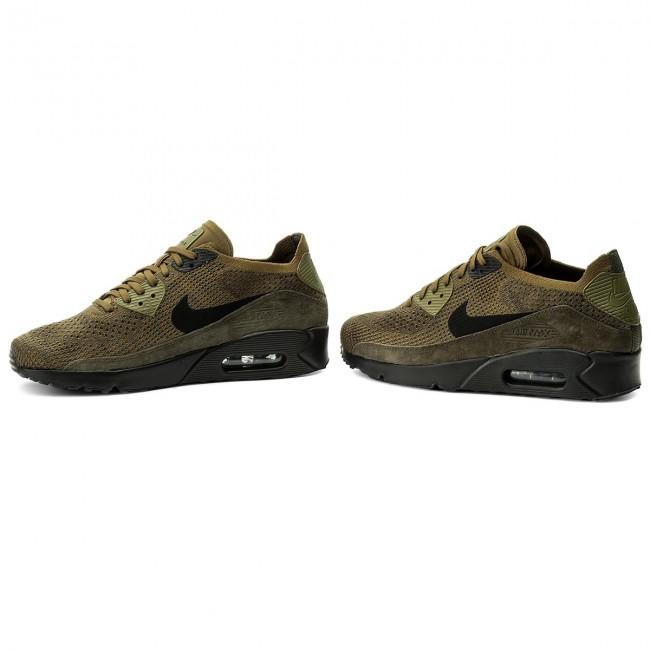 f3cb028a7b35 Shoes NIKE - Air Max 90 Ultra 2.0 Flyknit 875943 302 Olive Flak Black