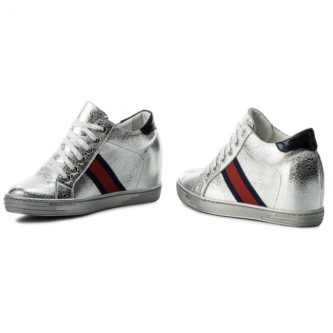 0924 Shoes Low Srebrny polański Sneakers R Kryształ rQdBWxoeCE