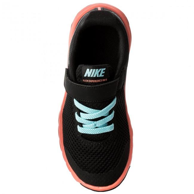 ea49be2ba38fe Shoes NIKE - Flex Experience 5 (PSV) 844992 002 Black Still Blue Lava Glov  - Velcro - Low shoes - Girl - Kids  shoes - www.efootwear.eu