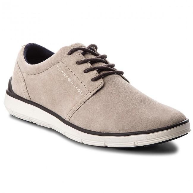 d79c2f6c6ffe5 Shoes TOMMY HILFIGER - Lightweight City Suede Shoe FM0FM01610 Taupe ...