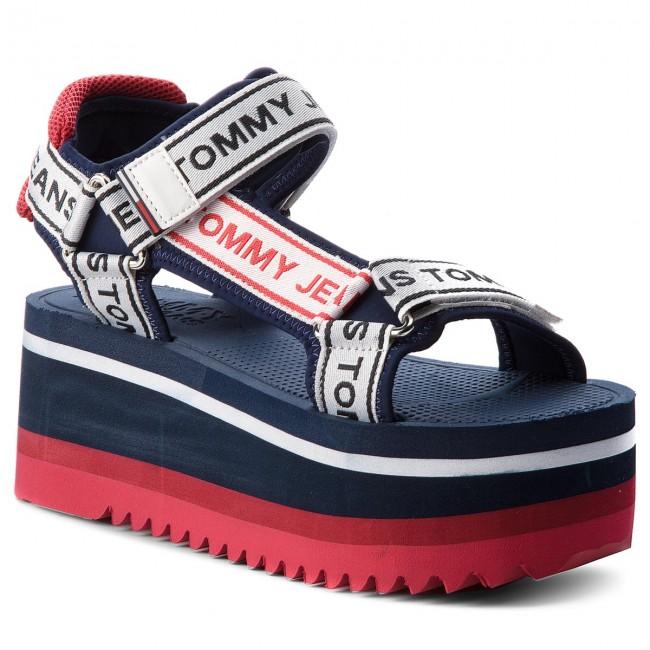 37edfd70ac484 Sandals TOMMY JEANS - Technical Sandal EN0EN00342 Midnight 403 ...