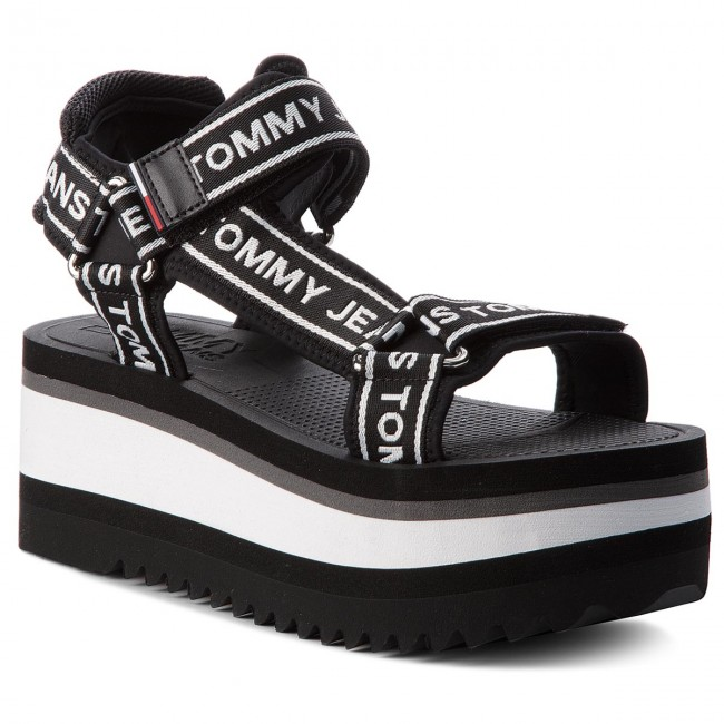 5e55727d3 Sandals TOMMY JEANS - Technical Sandal EN0EN00342 Black 990 - Casual ...