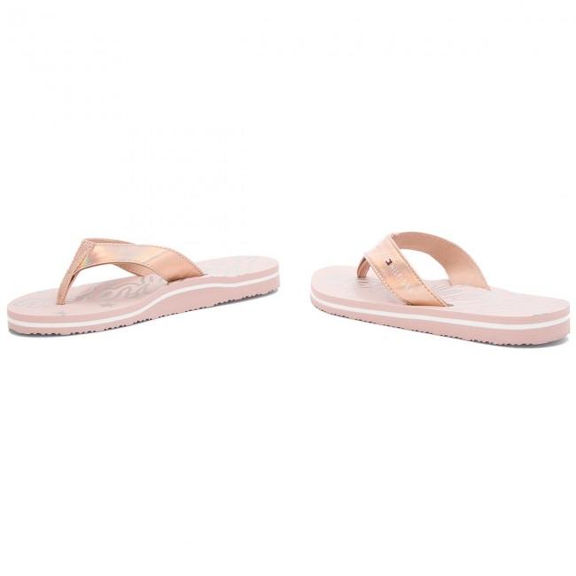 1fc103c4a57 Slides TOMMY HILFIGER - Mirror Sparkle Beach Sandal FW0FW02955 Dusty Rose  502
